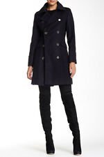 NWT Barbour Lieutenant Double-Breasted Peacoat  Wool-Cashmere (US 8 ) NAVY