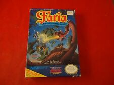 Faria A World of Mystery & Danger Nintendo NES Empty Box ONLY (no game or manual