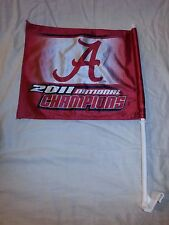 Alabama Crimson Tide 2011 National Champions Crimson Window 2-Sided Car Flag