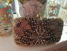 Accessorize stunning gold seqinned clutch bag Bnwt
