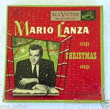 1951 Vintage MARIO LANZA Sings Christmas Songs - Red Vinyl Records - 45 RPM
