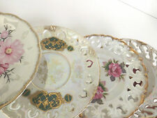 Set 4 Vintage Mismatched Japan plate Fine Bone China Saucers  #07092016