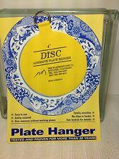 "(2) Original Invisible Disc Adhesive Plate Hanger 4"" for Plates 5.5 Pounds"
