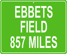 Brooklyn Dodgers Ebbets Field in Brooklyn, NY custom mileage sign your house