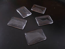 10pcs 23mm x 33mm RECTANGLE Glass Cabochon Dome Tile CLEAR Transparent