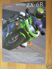 HAP-063 KAWASAKI BROCHURE  1999 NINJA ZX-6R DUTCH 8 PAGES PROSPEKT,FOLDER MOTOR
