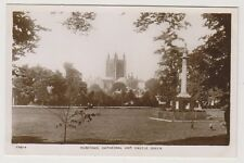 Herefordshire postcard - Hereford, Cathedral and Castle Green - RP