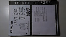 Aiwa hs-ta217 223 214 217 t23mk service manual original repair book walkman tape