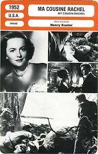 Fiche Cinéma. Movie Card. Ma cousine Rachel / My cousin Rachel (USA) 1952