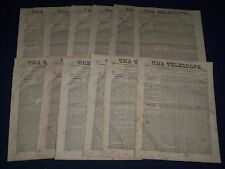1824-1828 THE TELESCOPE RELIGIOUS WEEKLY NEWSPAPER HUGE LOT OF 105 - NP 1130