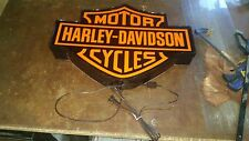Harley Davidson lighted sign 24x16 inch fatboy iron head shovel head sportster