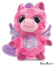 "YooHoo and Friends 5"" Cerise Pegasus Hot Pink Plush Cuddly Soft Toy Teddy Aurora"