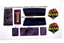MASK stickers for KENNER M.A.S.K JACKHAMMER Stickers Personalized with Extra's