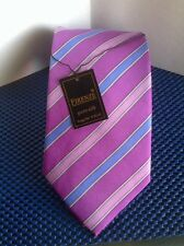 "NWT! Firenze ~ Men 100% Pure China Silk Neck Tie ~ Purple/Lilac/Blue ~ 60"" Long"