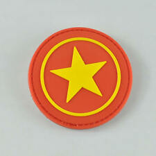 New 3D Rubber PVC Star Army Moral Military Velcro Patch Tactical SWAT Badge Red