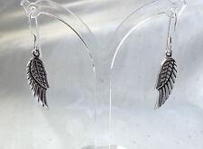 LOVELY GUARDIAN ANGEL FAIRY WINGS DROP EARRINGS 925 STERLING SILVER