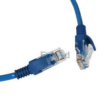7.5 M CAT5 5E Ethernet LAN Network Cable Cord 25 Ft RJ45 Connectors Cables Blue
