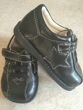 "Brand New ""See Kai Run"" Infant Boys Black Leather Casual & or Dressy Shoes Sz 4"