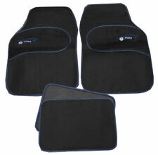 VW Golf Bora Eos Jetta Universal BLUE Trim Black Carpet Cloth Car Mat Set of 4