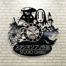 Studio Ghibli Anime_Exclusive wall clock made of vinyl record_GIFT 247