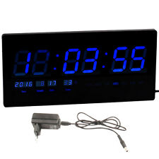 JUMBO Electric Digital LCD LED Alarm Table Wall Desk Night Clock Thermometer-244