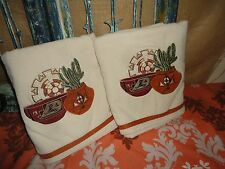 AVANTI SUN VALLEY SOUTHWESTERN TERRACOTTA CACTUS (2PC) BATH TOWELS 26 x 49