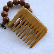 Small Pocket Wood Afro Hair Comb Pick  Handmade Wide Tooth No Static Comb Brush