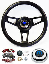 """1988-1991 Dodge pickup steering wheel BLACK SPOKE 13 3/4"""" Grant steering wheel"""
