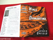 BONY #3 WINGS ABOVE THE DIAMANTINA Arthur Upfield 1940 HC copy jacket