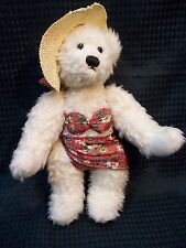 "Delightful 9"" Jointed White Teddy in a Bikini!"