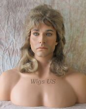 Mens Wig Mullet Costume style Dirty Blonde Wigs US Seller