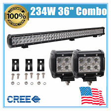 36'' 234W CREE LED CAR WORK LIGHT BAR 9-32V COMBO DRIVING OFFROAD TRUCK 18W FOG