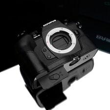 New GARIZ Olympus E-M1 II Leather Half Case Black For Olympus OM-D E-M1 II