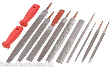 12pc Steel File & Wood Rasp Set Metal Half Round Bastard Mill Taper Handle