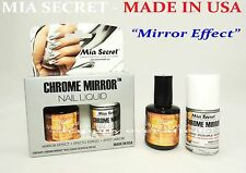 Mia Secret Chrome Mirror Nail Liquid & UV Base/Top Gel Set *MIRROR EFFECT*