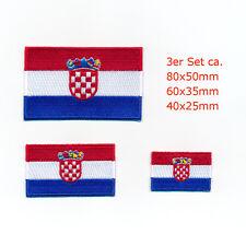 3 Kroatien Flaggen Südosteuropa Zagreb Aufnäher Aufbügler Patch Set 0929