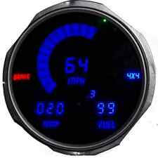 Jeep CJ 1955-1986 Blue LEDs Dash Digital Gauges Speedo Tach Temp Fuel Warranty!