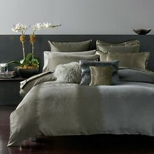 Donna Karan Meditation FULL/QUEEN Duvet Cover Mineral Bedding Retail $440 B486