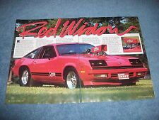 "1978 Chevy Monza Spyder Vintage Pro Street Article ""Red Widow"""