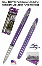 Fisher Space Pen #400PPCL-6 / Purple Bullet Pen with Clip & Purple Ink