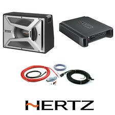 "HERTZ 10"" SUBWOOFER & AMPLIFIER BASS PACKAGE HCP2 & EBX250 SUB BOX & WIRING KIT"