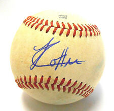 Jharel Cotton Ball Signed Autographed Game Used Baseball Oakland A's Athletics