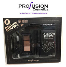 *New Profusion-Brows On Point EyeBrow Powder Stencils Gel Brush Pencile Tweezer