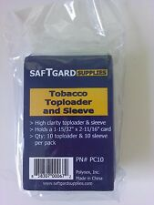 SafTgard Top Load Tobacco Card Protector With Sleeves Package of 10 New NIP