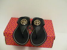 Women's tory burch navy slippers Selma flat thong tumbled leather size 6 us