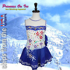 CHILD SMALL New Figure Ice Skating Dress Baton Twirling Dance USA SELLER