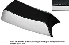 WHITE & BLACK CUSTOM FITS PUCH MAGNUM X 50 LEATHER SEAT COVER ONLY