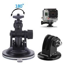Car Mount Holder Suction Cup Sucker + Tripod Adapter For GoPro YI SJCAM CAMERA