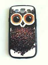 Coffee Bean Owl Samsung Galaxy S3 i9300 Printed Cover Case for Samsung
