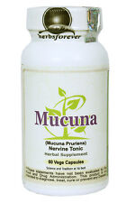 Mucuna (Support the nervous & reproductive system) 60 Vege Capsules, 600 Mg Each